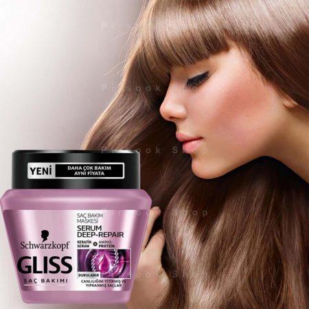 ماسک مو ترمیم کننده عمیق گلیس - فروشگاه پیرسوک