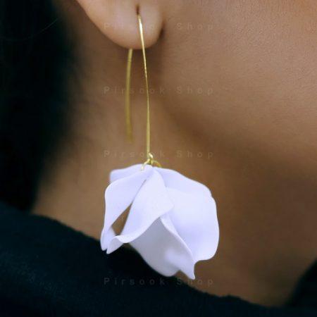گوشواره زنانه طرح گلبرگ - فروشگاه پیرسوک