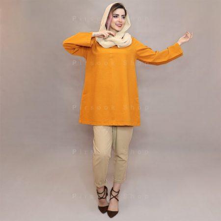 مانتو یقه ایرانی مونوبون مدل نارنج - فروشگاه پیرسوک